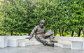 The Albert Einstein Memorial, a bronze statue at the National Academy of Sciences in Washington, D.C. Royalty Free Stock Photo