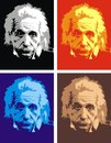 Albert einstein my original caricature in easy colors Stock Images