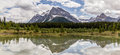 Alberta, Canada, beautiful Bow Lake at Banff National Park Royalty Free Stock Photo
