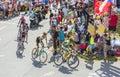 Alberto Contador on Col du Glandon - Tour de France 2015 Royalty Free Stock Photo