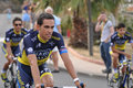 Alberto contador tour de france th of june porto vecchio th edition of the international professional cycling competition th Royalty Free Stock Photos