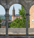 Albi france cathedral tarn midi pyrenees exterior of the historic Stock Photography