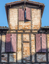 Albi france tarn midi pyrenees old half timbered buildings Royalty Free Stock Images