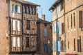 Albi france tarn midi pyrenees old typical buildings Stock Photos