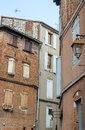 Albi france tarn midi pyrenees old typical buildings Stock Images