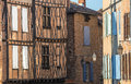 Albi france tarn midi pyrenees old typical buildings Stock Photography