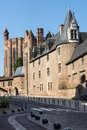 Albi palais de la berbie and cathedral tarn midi pyrenees france Stock Image