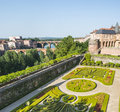 Albi palais de la berbie garden tarn midi pyrenees france gardens of the historic Stock Photo