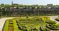 Albi palais de la berbie garden tarn midi pyrenees france panoramic view from the gardens of the Royalty Free Stock Photos