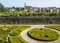 Albi palais de la berbie garden tarn midi pyrenees france panoramic view from the gardens of the Royalty Free Stock Image