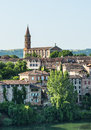 Albi panoramic view tarn midi pyrenees france from the gardens of the historic palais de la berbie Stock Photography