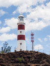 Albion light house by noon Royalty Free Stock Photos