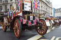 Albion motorcar london november a veteran ww is lined up alongside other classic vehicles in the middle of regent street during Stock Photo