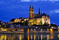 Albrechtsburg in Meissen at night Royalty Free Stock Image