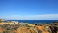 Albufeira algarve portugal view of beach Royalty Free Stock Image