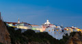 Albufeira at night old houses of in southern portugal evening view Stock Photo