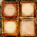 Album grunge frames four paper for your photos Royalty Free Stock Photos