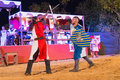 Two knights fighting Royalty Free Stock Photo