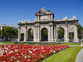 Alcala Gate in Independence Square, Madrid Stock Image