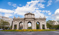 Alcala puerta de is a monument in the independence square in madrid spain Royalty Free Stock Photo