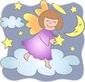 Alcance para el ángel/EPS de las estrellas Fotografía de archivo