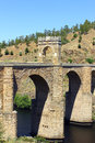 Alcantara roman bridge alcantara spain at Stock Photo