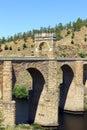 Alcantara roman bridge alcantara spain at Stock Photo