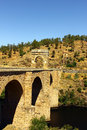 Alcantara roman bridge alcantara spain at Royalty Free Stock Image