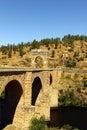 Alcantara roman bridge alcantara spain at Royalty Free Stock Image
