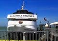 Alcatraz cruise boat boarding in san francisco bay california usa Royalty Free Stock Images
