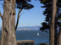 Alcatraz Island federal penitentiary, San Francisco Bay Royalty Free Stock Photo