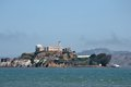 Alcatraz island and prison from fisherman s wharf san francisco ca Royalty Free Stock Image