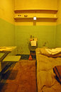 Alcatraz Island, , prison, cell, block, San Francisco, California, United States of America, bed, interiors Royalty Free Stock Photo