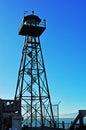 Alcatraz Island, watch tower, watchtower, prison, San Francisco, California, United States of America, Usa Royalty Free Stock Photo