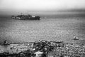 Alcatraz and pier the as seen from the coit tower san francisco california usa Stock Photography