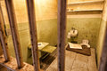 Alcatraz prison cell a view inside of showing a Royalty Free Stock Photos