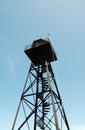 Alcatraz prison old watch tower Royalty Free Stock Photo
