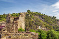 Alcazaba and gibralfaro fortress in malaga view of from spain Stock Images