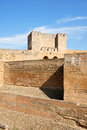 The Alcazaba in Granada, Spain Royalty Free Stock Photography
