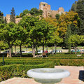 Alcazaba of Malaga, in Malaga, Spain Royalty Free Stock Images