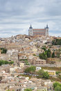 Alcazar in beautiful toledo spain old town of former capital city of Royalty Free Stock Images