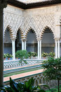 Alcazar De Doncellas las patio Seville Spain Obrazy Royalty Free