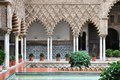 Alcazar of seville spain royal famous unesco world heritage site moorish architecture Stock Photos