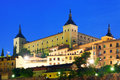 Alcazar of toledo in night castile–la mancha spain Royalty Free Stock Photography