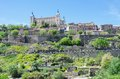 Alcazar of toledo panoramic view and spain Stock Photography