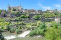 Alcazar of toledo panoramic view and spain Stock Photo
