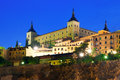Alcazar of toledo spain evening view Stock Photo