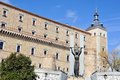 Alcazar of toledo spain view palace in with statue Stock Images