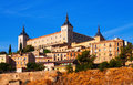 Alcazar of toledo in sunny summer day spain Stock Photography