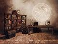 Alchemist`s study room